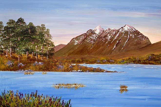 Liathach Torridon, acrylic painting Landscape and mountain art