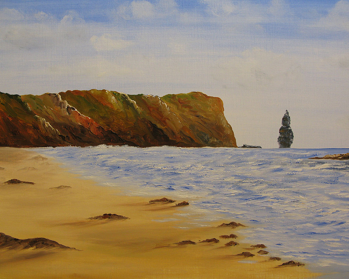 Original Oil Painting of Sandwood Bay, Scottish Highlands