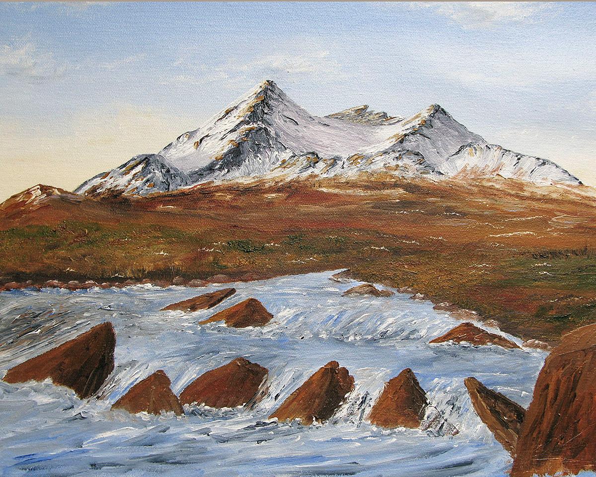 Sgurr nan Gillean, Isle of Skye Cuillin, original oil painting for sale