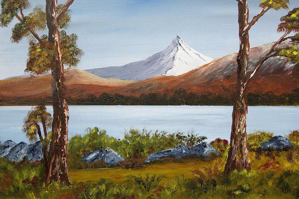 Schiehallion oil painting, Landscape and mountain art