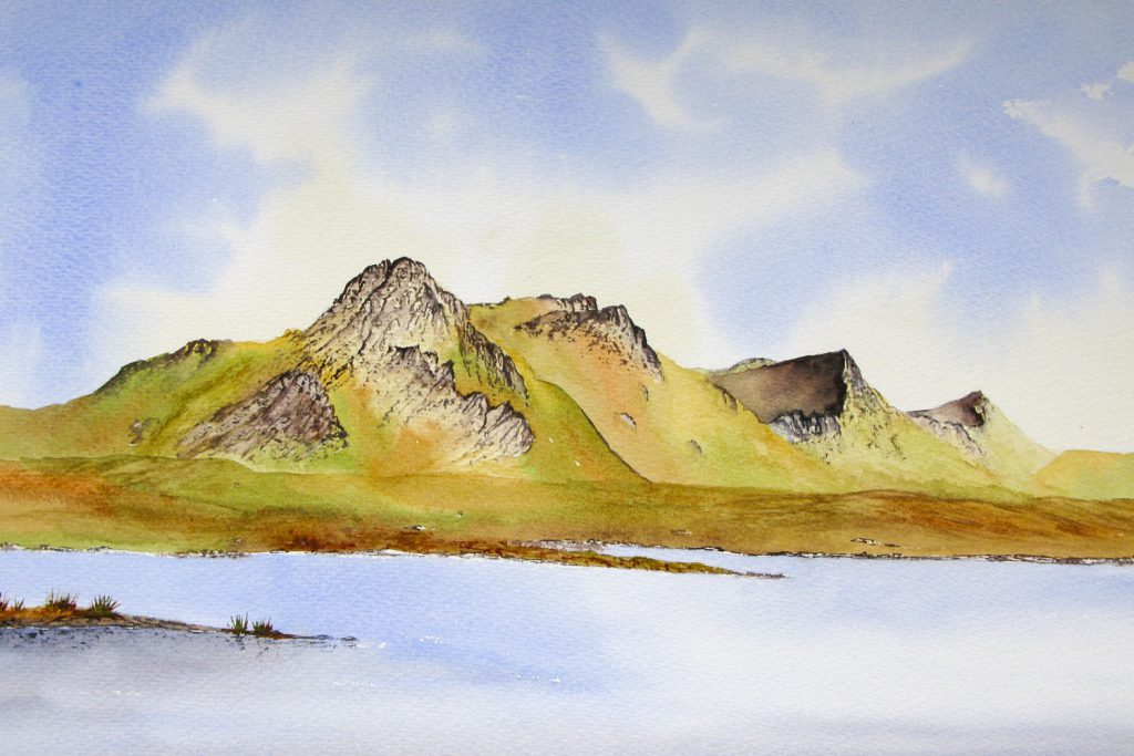Ben Loyal painted in watercolours