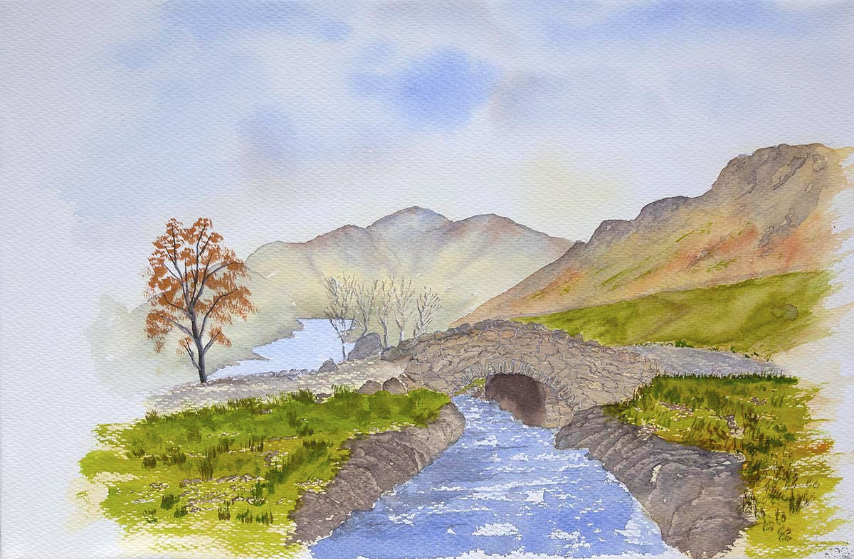 Ashness Bridge, Derwentwater and Skiddaw
