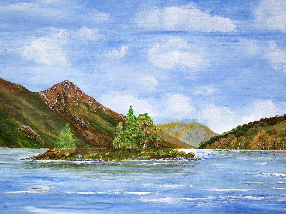 Original Painting of The Pap of Glencoe from Kinlochleven