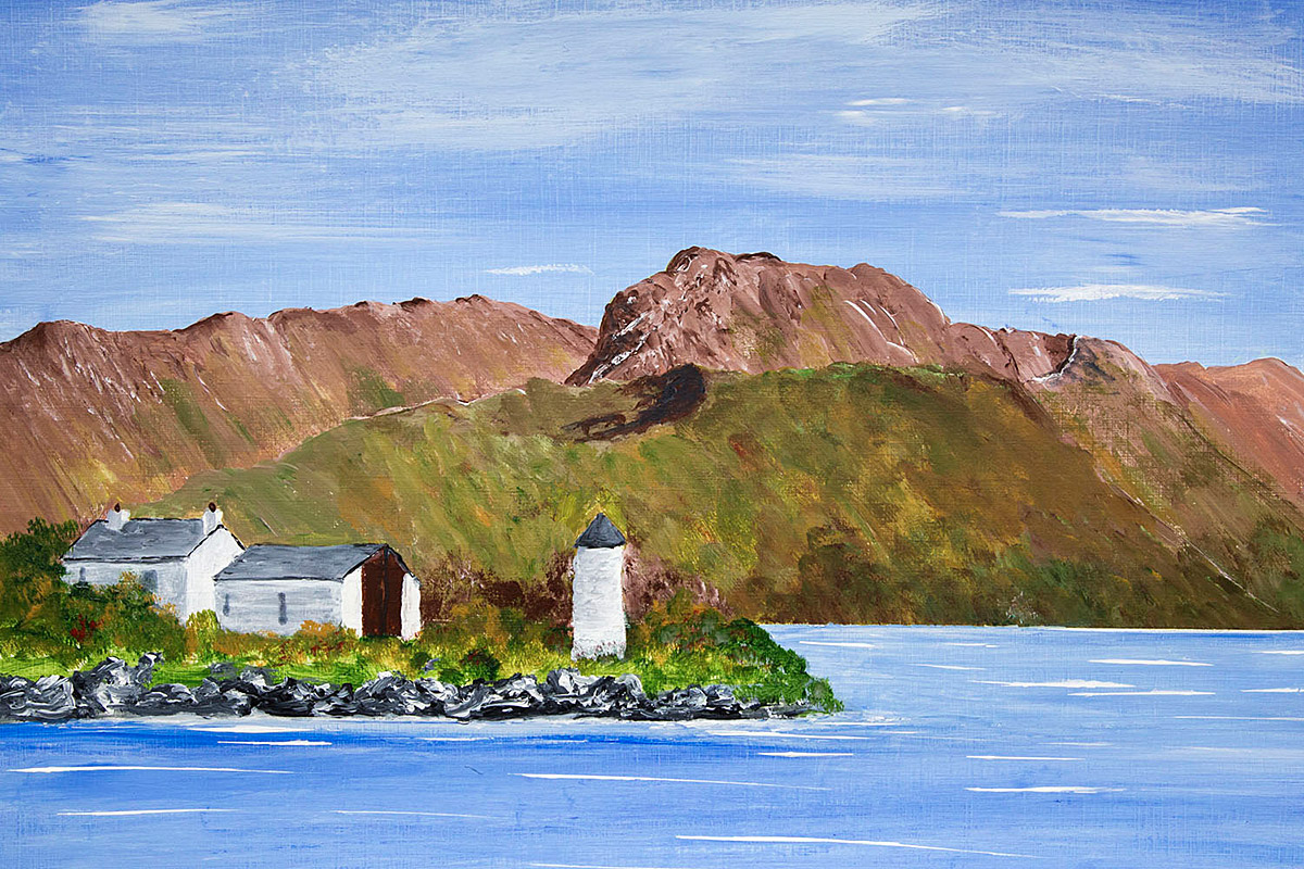 Original acrylic painting of Ben Nevis from Corpach