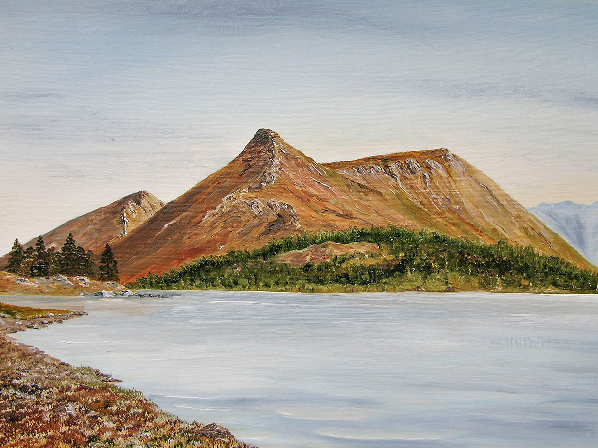 Original Oil painting of The Pap of Glencoe, across Loch Leven