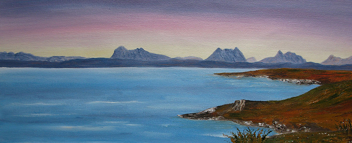Original Oil painting of Achnahaird bay, North West Highlands