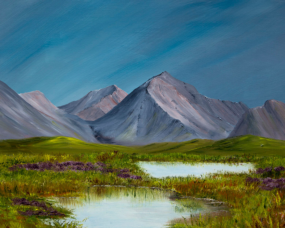 Original Oil Painting of Marsco from Loch nan Eilean