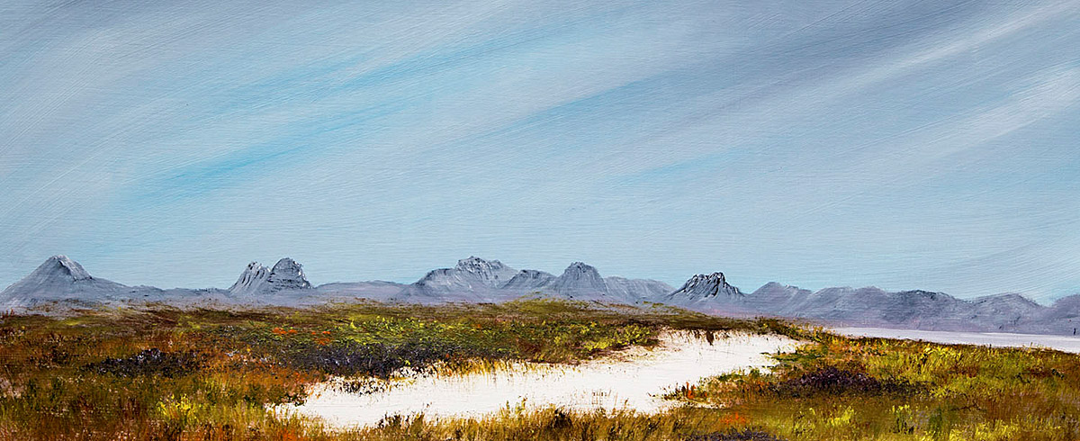 The Big Skies of Assynt, painted in oils