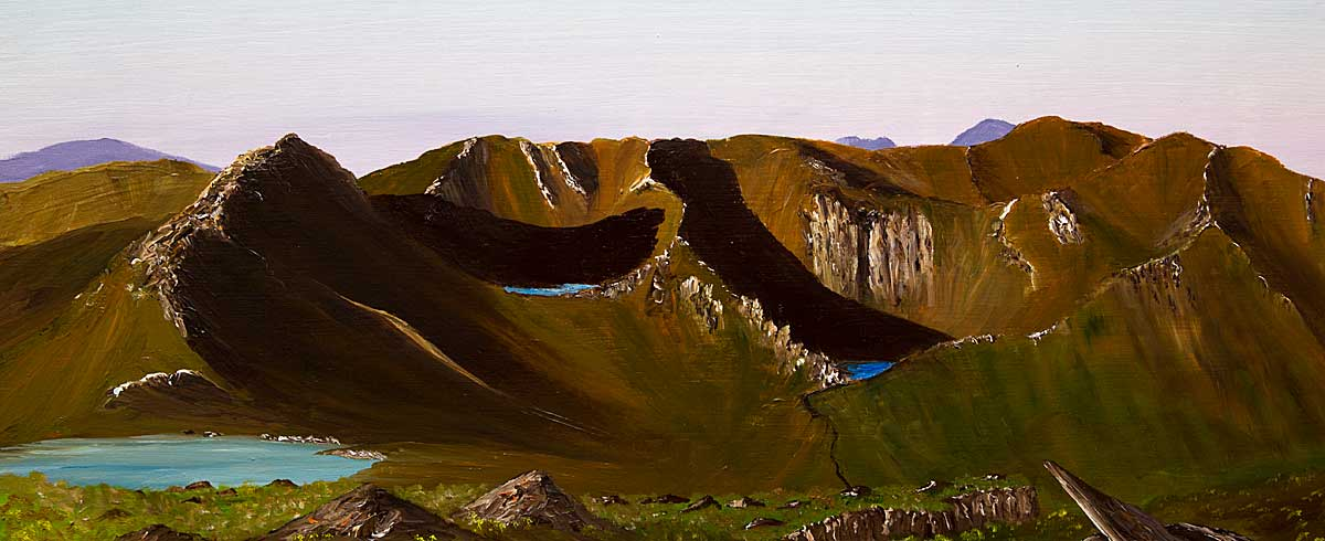 Original oil painting of Tryfan and The Glyders, Ogwen Valley, Snowdonia