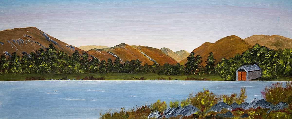 Original Oil painting of the Head of Ullswater, looking towards Hartsop