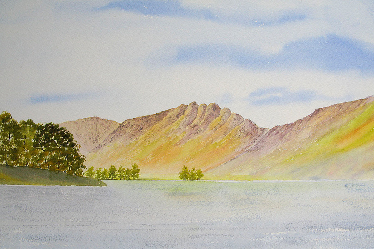 Original watercolour painting of Haystacks, Buttermere, the Lake District
