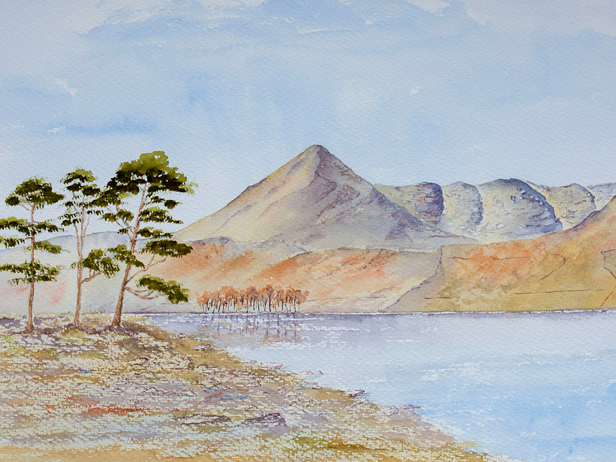 Original watercolour painting of High Crag Buttermere