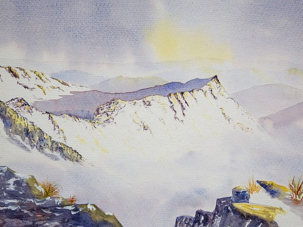 Striding Edge,  Helvellyn in winter