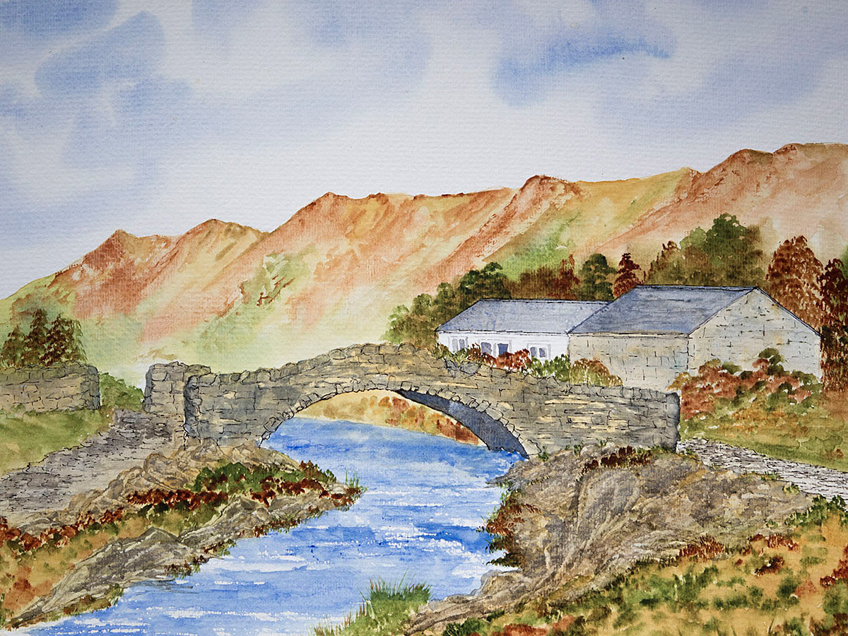 Original watercolour painting of Watendlath, Borrowdale