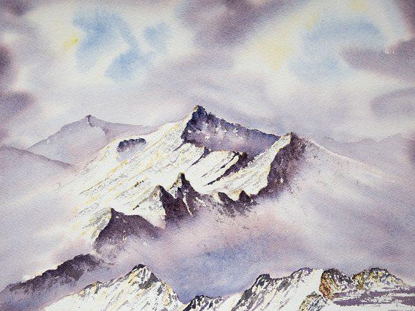 Aonach Eagach ridge in Winter