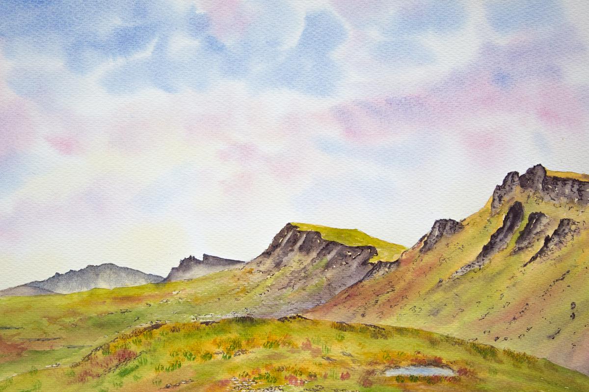 Original watercolour painting of Trotternish ridge, Isle of Skye