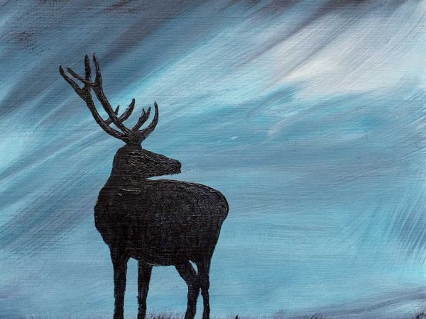 Highland Stag Oil Painting