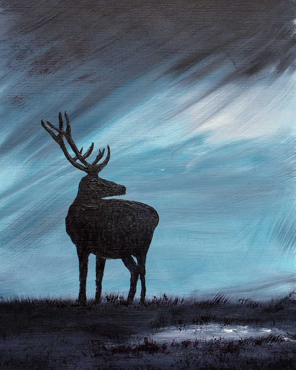Red Deer Stag Oil painting for sale