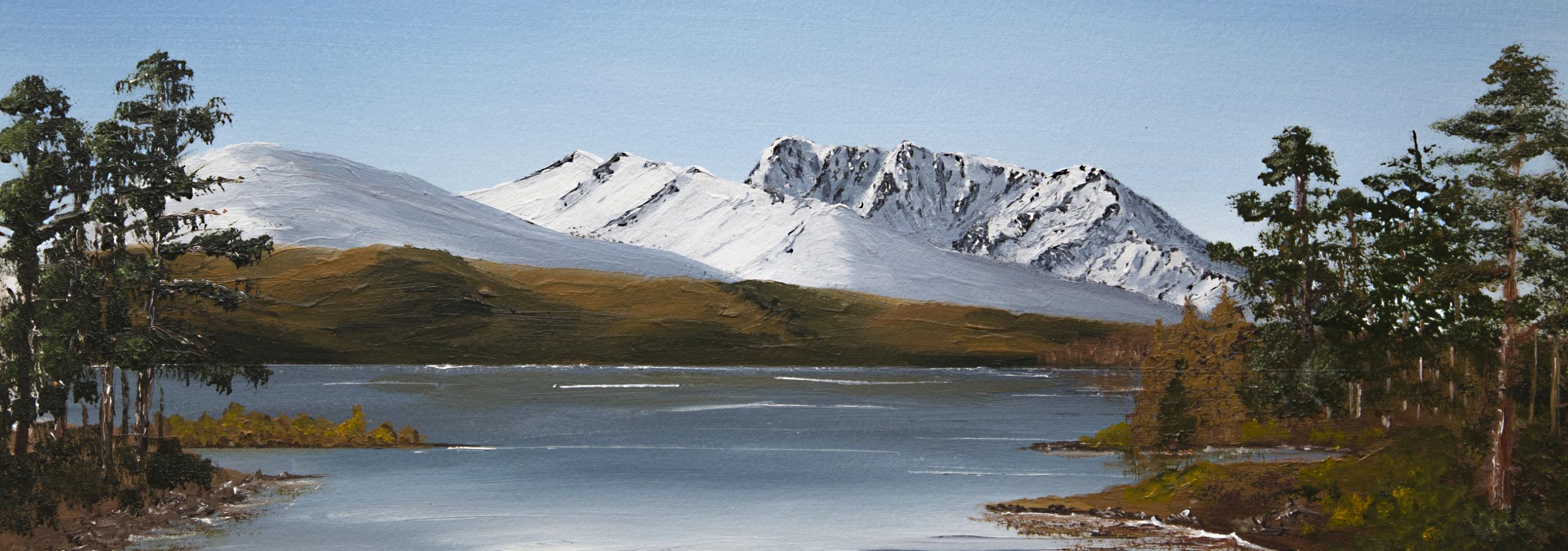 Ben Nevis from Bunarkaig across Loch Lochy Oil painting