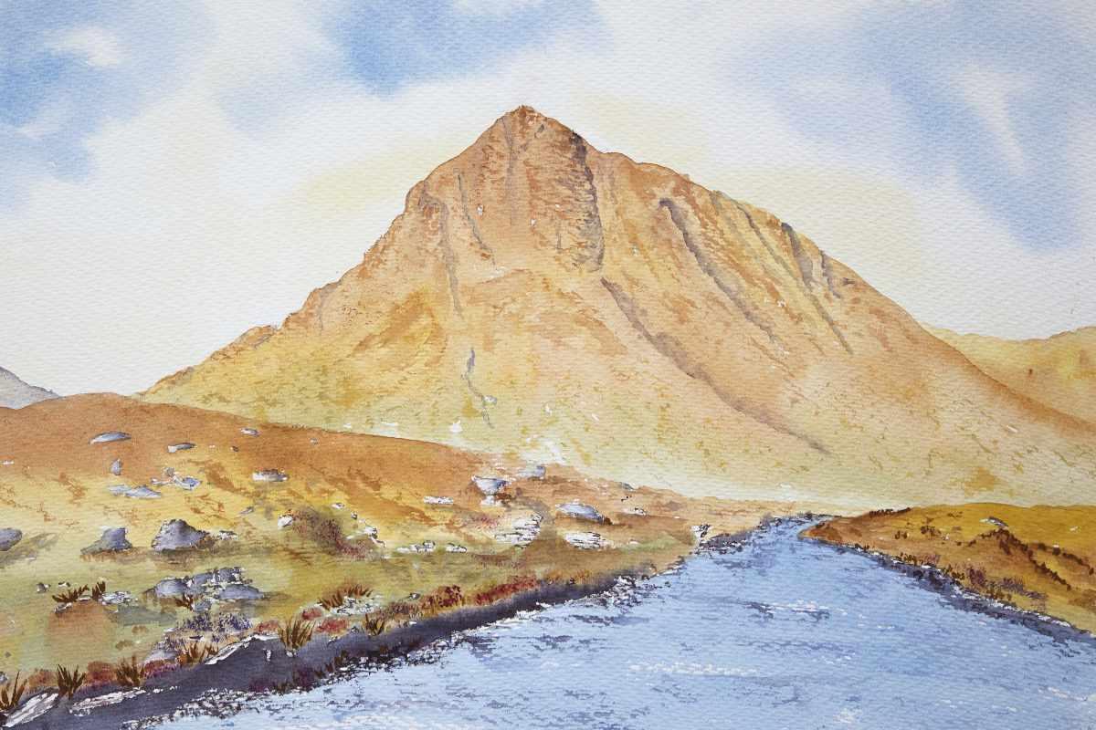 Buachaille Etive Mor original watercolour painting of Glencoe