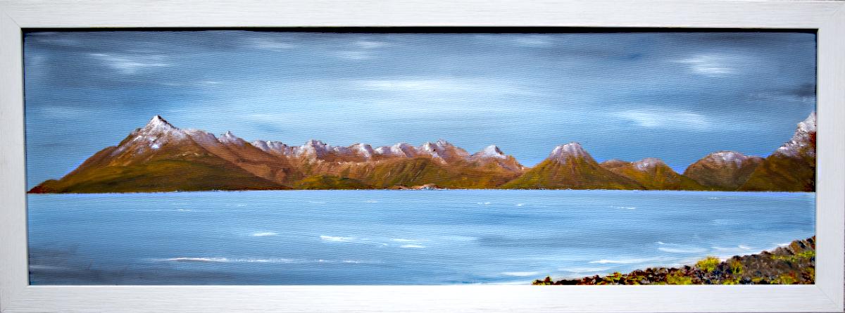 Cuillin of Skye from Elgol framed oil painting for sale, Scottish Highlands