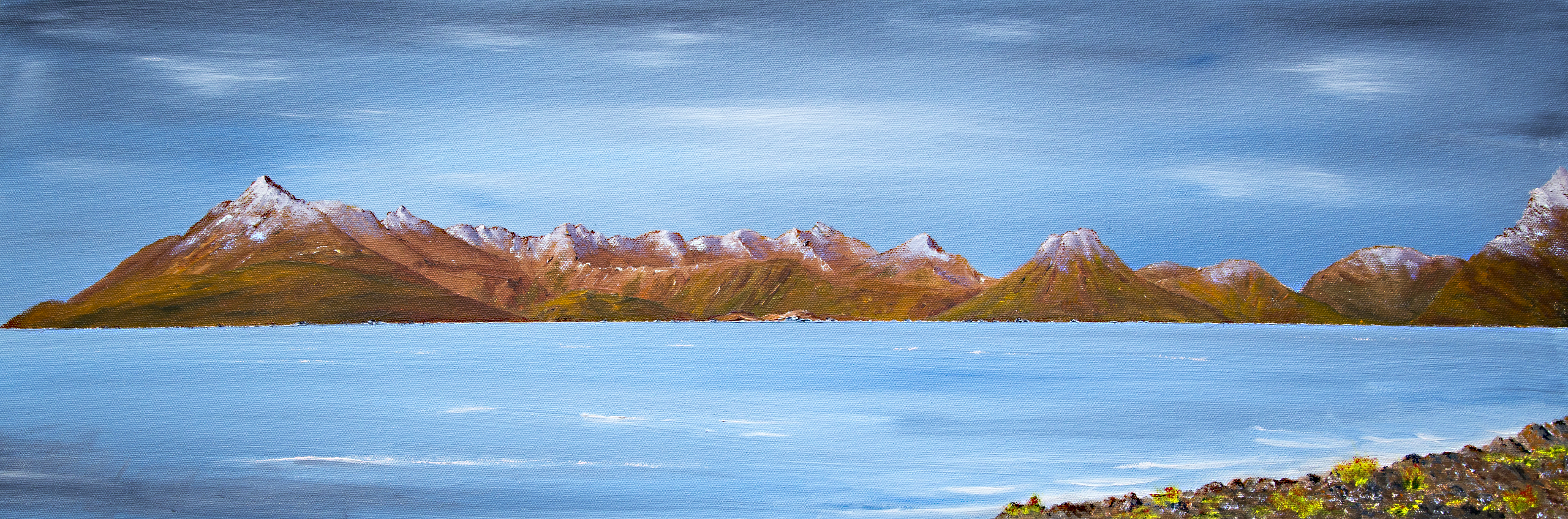 The Cuillin of Skye from Elgol, oil painting