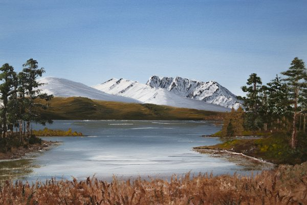 Ben Nevis from Bunarkaig, oil painting and print of the Scottish Highlands